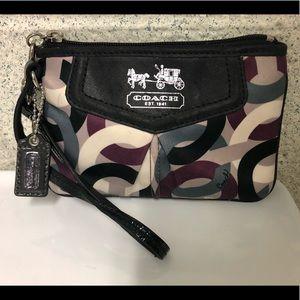 Coach Silk/Leather Wristlet